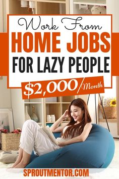 10 work from home jobs for lazy people who love easy tasks. These online jobs and ways to make money online are very easy and do not require any degree or special expertise. #workfromhome #workfromhomejobs #workfromhomecareers #workathome #onlinejobs #onlinebusiness #makemoneyonline #extracash #sidehustles #money #work