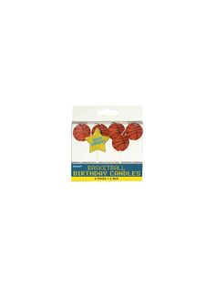"""Basketball 3"""" Pick Candles (6 Pack) - Candles and Individual Party Supplies"""
