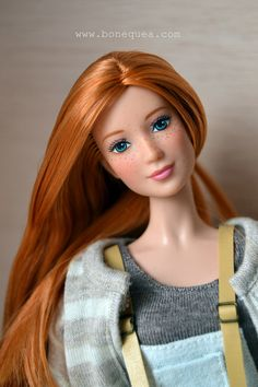 """Florence. OOAK Barbie: Freckles"" by Sandraⓒ | Reroot: Vanelg1 - Freckles: Sandra | Preciosa modelo de Edelmo! | August 2, 2011"