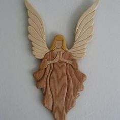 Woodworking Jigsaw Timber Treasures cubit: The Art of Intarsia Christmas Angel Ornaments, Christmas Wood, Christmas Crafts, Intarsia Wood Patterns, Wood Carving Patterns, Woodworking Jigsaw, Intarsia Woodworking, Wooden Clothespin Crafts, Wood Crafts