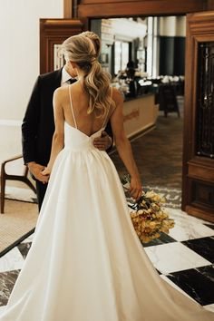 wedding dresses ~ wedding dresses & wedding dresses lace & wedding dresses vintage & wedding dresses ball gown & wedding dresses simple & wedding dresses mermaid & wedding dresses with sleeves & wedding dresses a line Wedding Dress Black, Wedding Robe, Top Wedding Dresses, Fit And Flare Wedding Dress, Wedding Dress Trends, Wedding Ideas, Wedding Hacks, Wedding Outfits, Wedding Dress Low Back