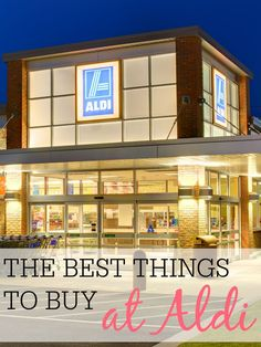THE BEST THINGS TO BUY AT ALDI / Want to save more money on your grocery bill? I love shopping at Aldi to save more money. Check out the best things to buy at Aldi. Leave the coupons at home and save more money and time at Aldi. Debt Free Living, Living On A Budget, Frugal Living Tips, Frugal Family, Clean Living, Best Money Saving Tips, Ways To Save Money, Saving Money, Aldi Shopping