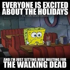 Everybody is waiting for the walking dead to return While am sitting here waiting for Attack On Titan season 2 - Coffee shop spongebob Games Memes, Dc Memes, Funny Memes, Funniest Jokes, Memes Humor, Funny Quotes, The Maze Runner, Maze Runner Series, Maze Runner Funny