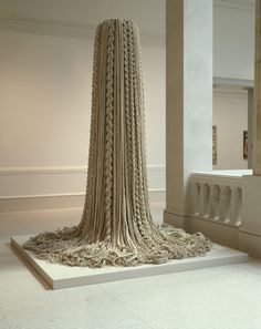 """Fiber Sculpture Entitled """"Private Affair I"""" 