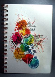 Eileen's Crafty Zone: Art Journal pagina met Dylusions Stencils en Postzegels