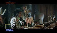 La musica di Sia accompagna l'ennesima avventura del bucaniere Giorgio Panariello, affiancato dal fido secondo Giovanni Esposito, e della sua ciurma di pirati, fra i quali c'è la sorpresa del cane Fibra!