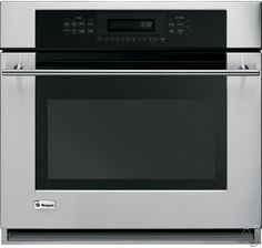 """GE Monogram ZET938SMSS 30"""" Single Electric Wall Oven with 4.4 cu. ft. Reverse-Air/European Convection Oven, Meat Thermometer, Glass Touch Controls and ADA Compliant: Stainless Steel"""