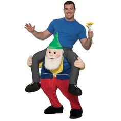 Ride a Gnome Adult Costume ($30) ❤ liked on Polyvore featuring costumes, halloween costumes, alien halloween costume, elephant halloween costume, adult halloween costumes, adult elephant costume and sport halloween costumes