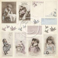 """Pion Design - Alma's Sewing Room Collection - 12""""x12"""" Double Sided cardstock - Images X 2"""
