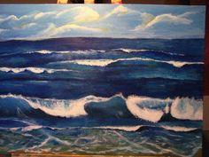 Die zweite Welle- Acryl auf Leinwand 50x70