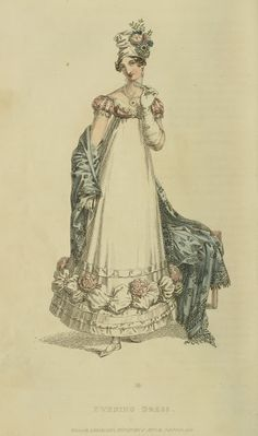 Stay warm and elegant with an Indian shawl, turban and white gloves. 1818