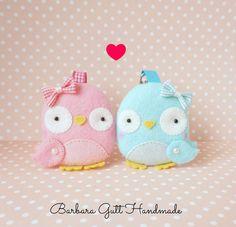 Barbara Handmade felt birds