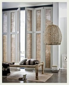 Great idea for ugly sliding glass door that's bombarded by sun!