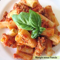 Rigatoni alla bolognese light