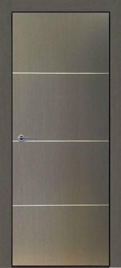 $299 Madrid Graphite Finish Modern Interior Door w/Aluminum Strip Design - Prices Includes Door Slab,Jambs and Casings