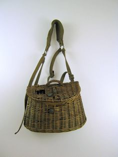 Wicker Fishing Creel by NaturalVintage on Etsy, sold