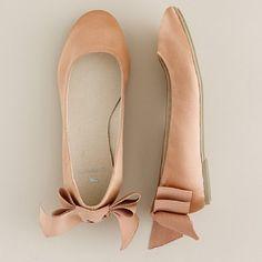 #jcrew, silk satin ballet flats