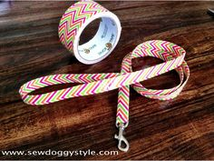 Sew DoggyStyle: DIY Duct Tape Dog Leash - No Sew!  I'm going to try to cover an old leash with this, not sure it would hold up if just using the duck tape alone.