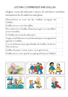 Publishing platform for digital magazines, interactive publications and online catalogs. Convert documents to beautiful publications and share them worldwide. Title: Comprensió lectora amb més dibuixos animats, Author: Length: 6 pages, Published: Catalan Language, Digital Magazine, Author, Teaching, Activities, School, Caillou, Acl, Books