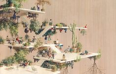 "Juxtapoz Magazine - ""Gravitant,"" Cinta Vidal's Living Exhibition"