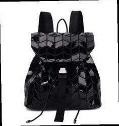 48.78$  Buy now - http://ali7ff.worldwells.pw/go.php?t=32750322294 - New Arrive Women BaoBao Backpack Geometric Hologram Diamond Lattice Holographic Backpack Drawstring Shoulder Bag Sac A Dos Femme 48.78$