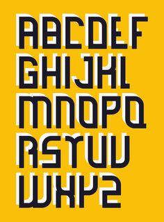 Bar Typeface by Maarten van 't Wout, via Behance - PunXXX #PunXXX xpunxxx.tumblr.com http://twitter.com/xPunXXX