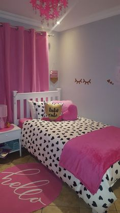 30 Impressive Girls Bedroom Ideas With Princess Themed Pink Bedroom Design, Girl Bedroom Designs, Bedroom Themes, Room Decor Bedroom, Girls Bedroom, Diy Room Decor, Bedroom Ideas, Childrens Bedrooms Girls, Hot Pink Bedrooms