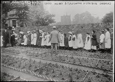 Lady Henry Somersetand T.P. O'Connorin a garden distributing cabbages to children,between ca. 1910 and ca. 1915, Bain News Service,via Library of Congress, Prints and Photographs Division…
