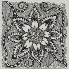 zentangle | Zentangle Inspirations / Tangled Flower