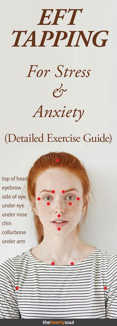EFT Tapping For Stress & Anxiety. Stress and Anxiety. Stress less. Stop stress. Eft Tapping, Tapping For Anxiety, Health Tips, Health And Wellness, Health Fitness, Fitness Foods, Mens Fitness, Exercise And Mental Health, Mental Health Therapy