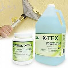 X-Tex eco friendly compound that removes texture from walls & ceilings
