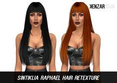 Kenzar Sims : Sintiklia Raphael with bangs (Hair Retexture).