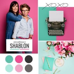 SHABLON pink teal moldboard editorial style modern color