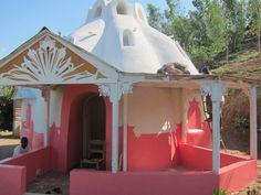 earthbag house - verandah added, and great colour