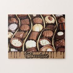 Assorted Chcolate Candy Photo Puzzle  $25.75  by StoneRhythms  - cyo diy customize personalize unique