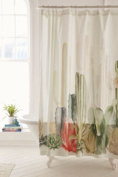 Cactus Landscape Shower Curtain affiliate