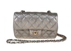 Chanel Mini Silver Classic Quited Flap
