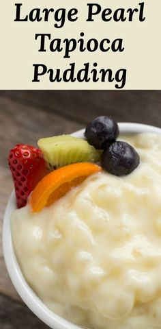 Large Pearl Tapioca Pudding made from scratch! Just like old-fashioned diners! v… Large Pearl Tapioca Pudding made from scratch! Just like old-fashioned diners! via Pear Tree Kitchen Pudding Desserts, Chia Pudding, Pudding Recipes, Snack Recipes, Dessert Recipes, Cooking Recipes, Kitchen Recipes, Tapioca Pudding Recipe Large Pearl, Old Fashioned Tapioca Pudding Recipe