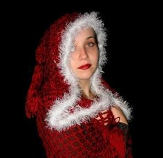 Renaissance Medieval Hooded  Crochet Shawl SCA  by elorascastle, $149.00