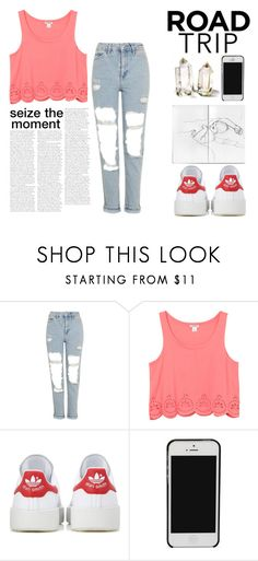 """""""Untitled #325"""" by arwaroro48 on Polyvore featuring Topshop, Monki and adidas Originals"""
