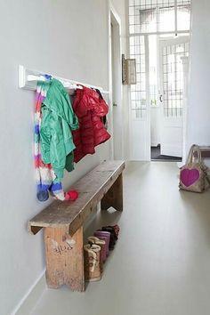 Klassiek huis + gietvloer Entry Hallway 70ed2c13847be