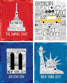 The Iconic New York Collection by Michael Mullan, via Behance