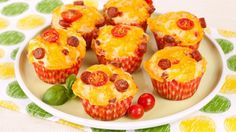 Pepperoni Pizza Muffins