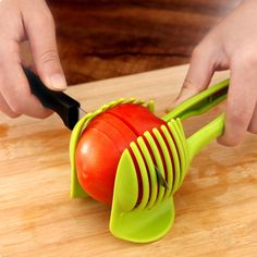 Lemon Tomato Fruit Cucumber Slicer Divider Egg Tart Food Slices Clip Holder