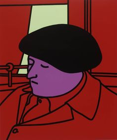 Patrick Caulfield (1936‑2005).  Portrait of a Frenchman, 1971, Screenprint on paper,: 635 x 537 mm Collection Tate