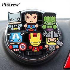 Cartoon Car Styling Marvel Style The Avengers Star Wars Air Freshener Perfume for Car Air Condition Vent Smell Superman Batman