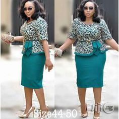 ❤ Need buy or sell Dresses Nigeria? African Wear Dresses, Latest African Fashion Dresses, African Print Fashion, African Attire, Women's Fashion Dresses, Classy Wear, Classy Work Outfits, Classy Dress, Office Dresses For Women