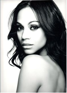 I adore Zoe Saldana, in Star Trek, Guardians, PotC and basically everything. She's so beautiful.