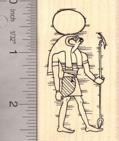 Ra Egyptian Sun God Rubber Stamp AKA R * Click on the image for additional details.