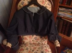 Regency Spenserjacket. Cotton fabric and lining. 100% hand-sewn by Jeannette de Meyer - Miss Galindo